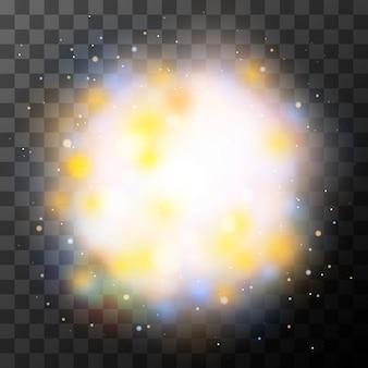 Jasny magiczny efekt świetlny