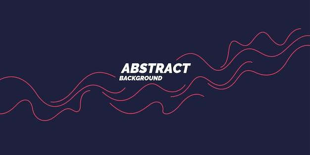 Jasny plakat z dynamicznymi falami. ilustracja wektorowa w minimalistycznym stylu płaski
