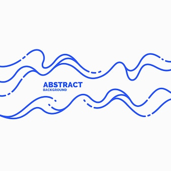 Jasny plakat z ilustracją wektorową dynamicznych fal w minimalistycznym stylu