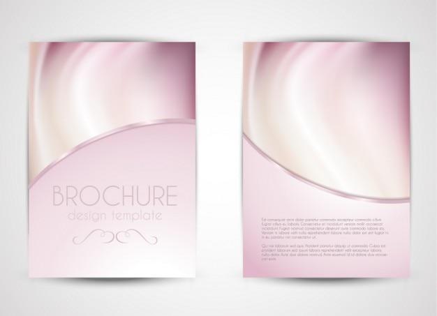 Jasny różowy broszura