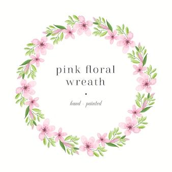 Jasny różowy kwiatowy wieniec