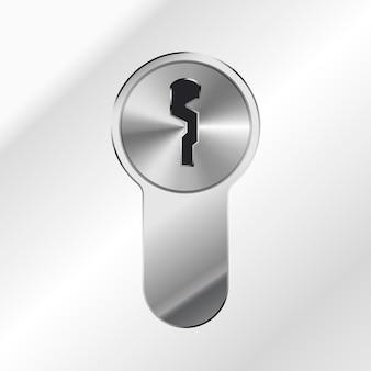 Jasny srebrny błyszczący dziurka na metaliczne tło