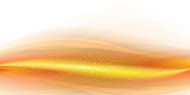 Jasny złoty dym falowy tło abstrakcyjny ruch falisty ilustracja miękkie żółte jedwabiste linie