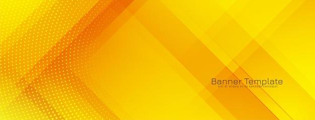 Jasny żółty kolor nowoczesny geometryczny baner