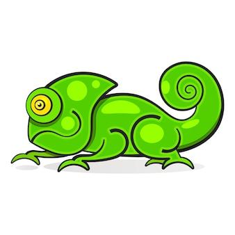 Jaszczurka kameleon kolor tęczy postać z kreskówki ilustracja graficzna