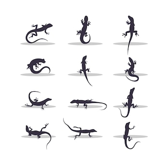 Jaszczurka sylwetka wektor ilustracja projektu