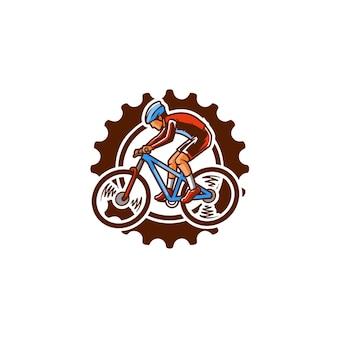 Jazda na rowerze w dół miejskiej prędkości