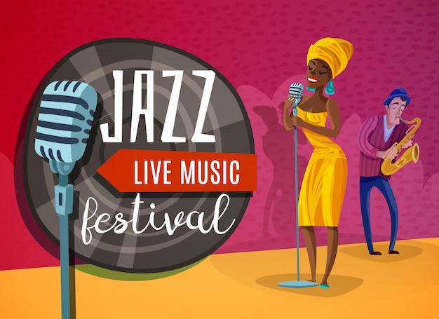 Jazz music horizontal