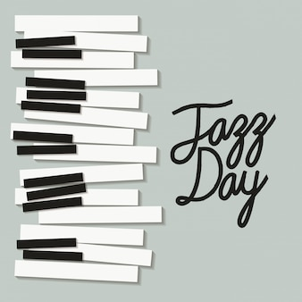 Jazzowy plakat z klawiaturą fortepianową