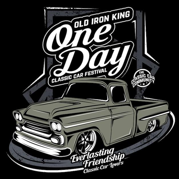 Jeden dzień, ilustracja samochód wektor