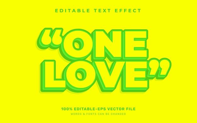 Jeden efekt tekstu miłości