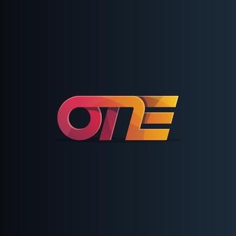 Jeden logo wektor logo