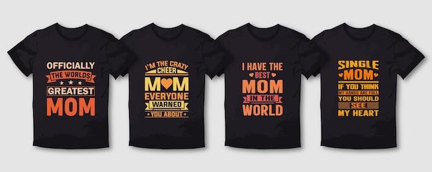 Jeden najlepszy projekt koszulki typografii dla mamy matki