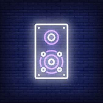 Jeden neon znak głośnika