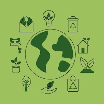 Jedenaście ikon organicznych i przyrodniczych