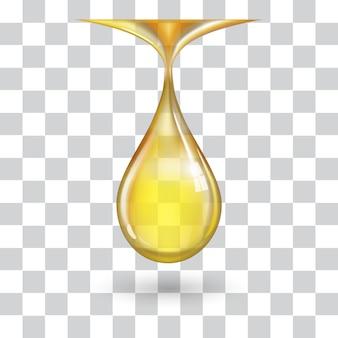 Jedna duża żółta kropla
