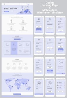 Jedna strona internetowa i zestaw szkieletowy aplikacji mobilnych