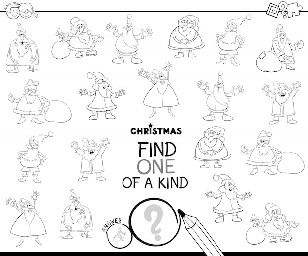 Jedna z miłych gier edukacyjnych z santa color book