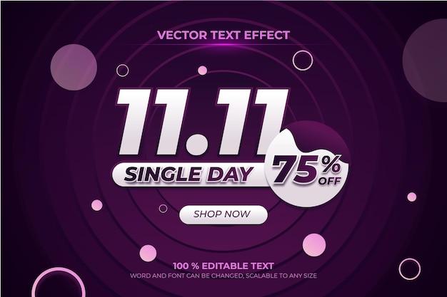 Jednodniowy edytowalny efekt tekstowy 3d z fioletowym stylem tła