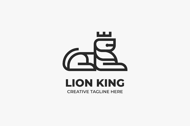 Jednokolorowe logo król lew