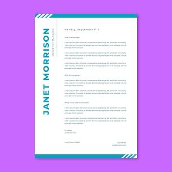 Jednokolorowy list motywacyjny janet