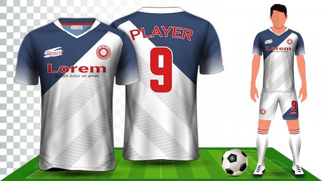 Jednolita prezentacja koszulki piłkarskiej, sportowej lub futbolowej.