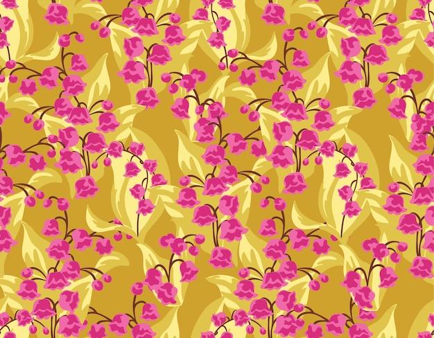 Jednolite kwiatowy wzór w wektorze, wzór wydruku.