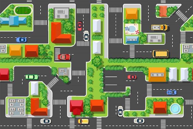 Jednolite tło wzór miejski
