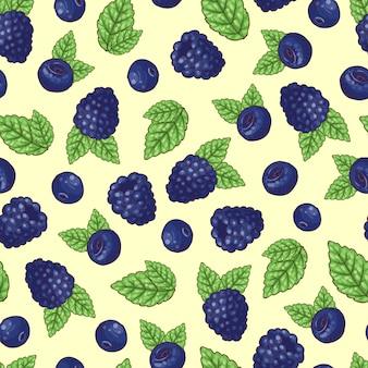Jednolite wzór blueberry