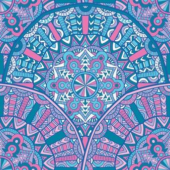 Jednolite wzór mandala wektor wzór do druku. ornament plemienny.