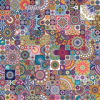 Jednolite wzór płytki marokańskie