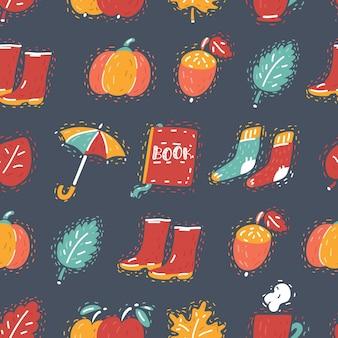 Jednolity jesienny wzór