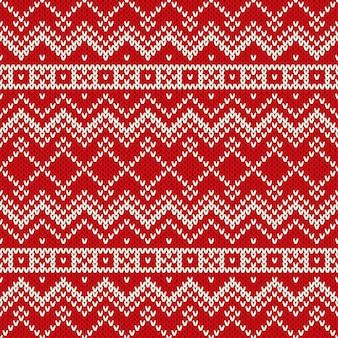 Jednolity ornament wzór na wełnianej dzianinie tekstury.
