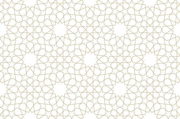 Jednolity, oryginalny wzór w autentycznym arabskim stylu. ilustracja wektorowa