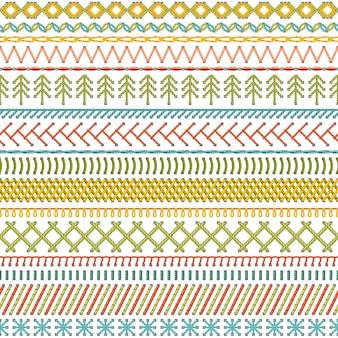 Jednolity wzór bardzo szczegółowych szwów i szwów