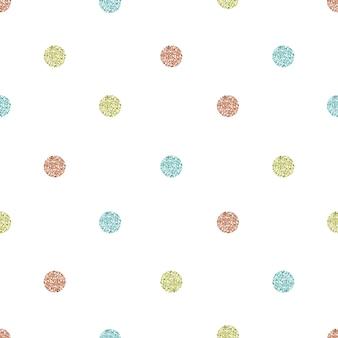 Jednolity wzór brokatu na biały w kształcie kropki pastelowych blasku