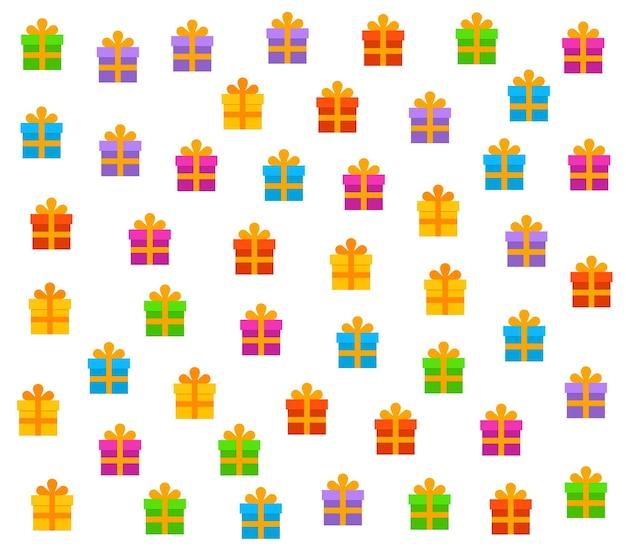 Jednolity wzór coloful wielu obecnych z kokardą.