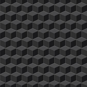 Jednolity wzór izometryczny kostki w kolorach czarnym