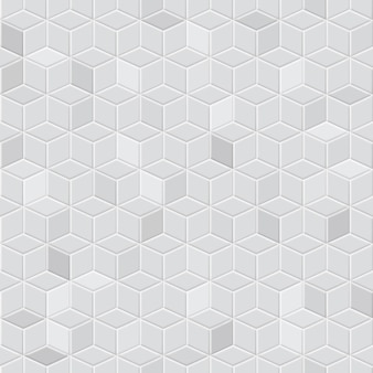 Jednolity wzór izometrycznych kostek w szarych kolorach