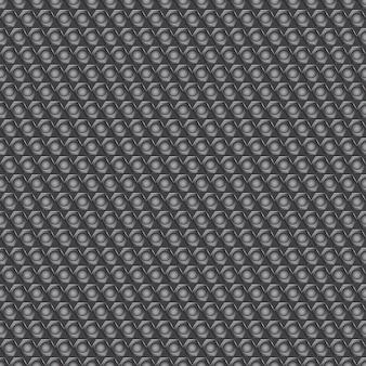 Jednolity wzór karbonowy z małymi okrągłymi otworami w szarych kolorach