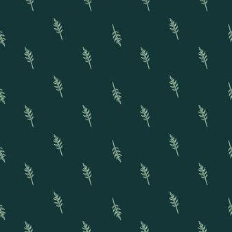 Jednolity wzór kilka sałatka z rukoli na ciemnym turkusowym tle. streszczenie ornament z sałatą.