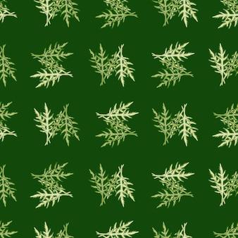 Jednolity wzór kilka sałatka z rukoli na zielonym tle. nowoczesna ozdoba z sałatą.