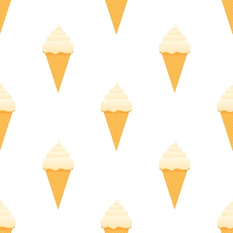Jednolity wzór lodów.