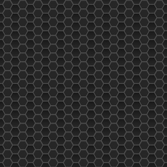 Jednolity wzór małych sześciokątów w czarnych kolorach