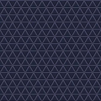 Jednolity wzór małych trójkątów w ciemnoniebieskich kolorach