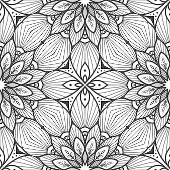 Jednolity wzór mandali tło