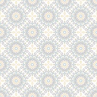 Jednolity wzór mandali. vintage elementy w stylu orientalnym.