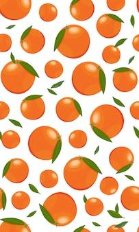 Jednolity wzór pomarańczowe owoce