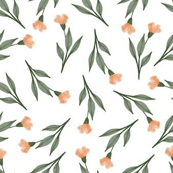 Jednolity wzór pomarańczowych kwiatów
