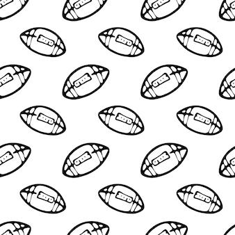 Jednolity wzór ręcznie rysowane doodle piłkę. szkic powrót do szkoły, ikona. element dekoracyjny. na białym tle. ilustracja wektorowa.